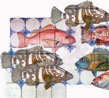 Уникальный рисунок на керамической плитке ручной работы