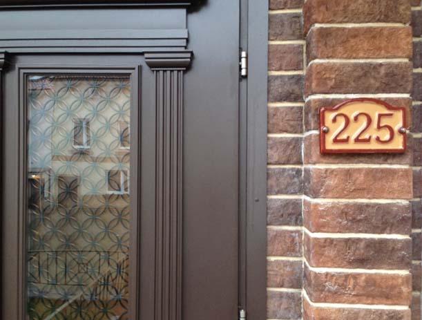 Номер дома из керамической плитки