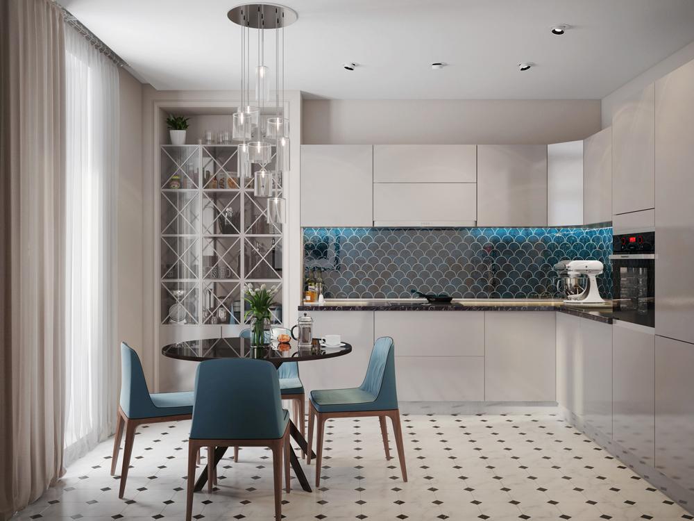 Фоновая керамическая плитка для кухни