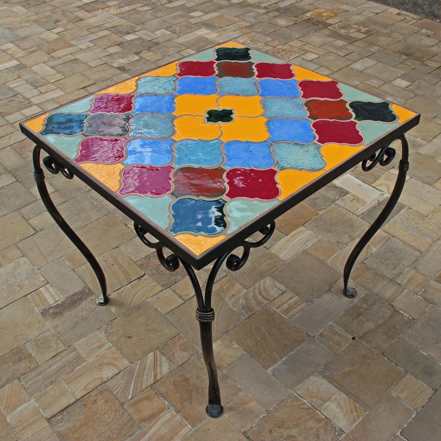 Керамическая плитка на столе