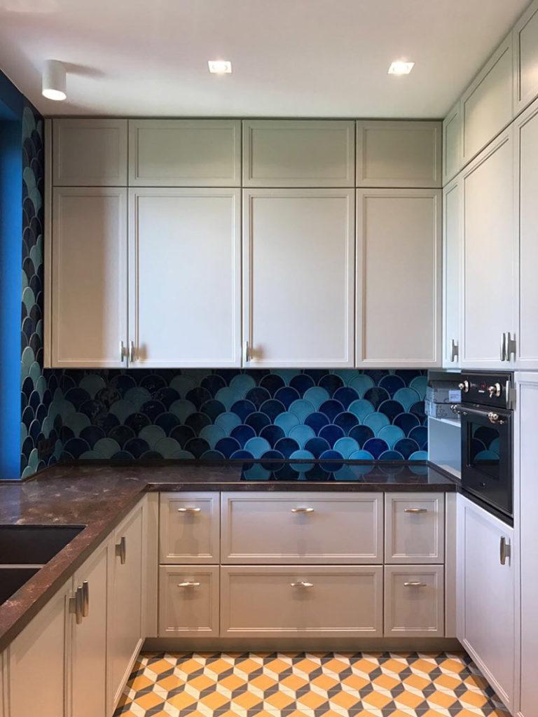 Дизайнерская плитка на кухне