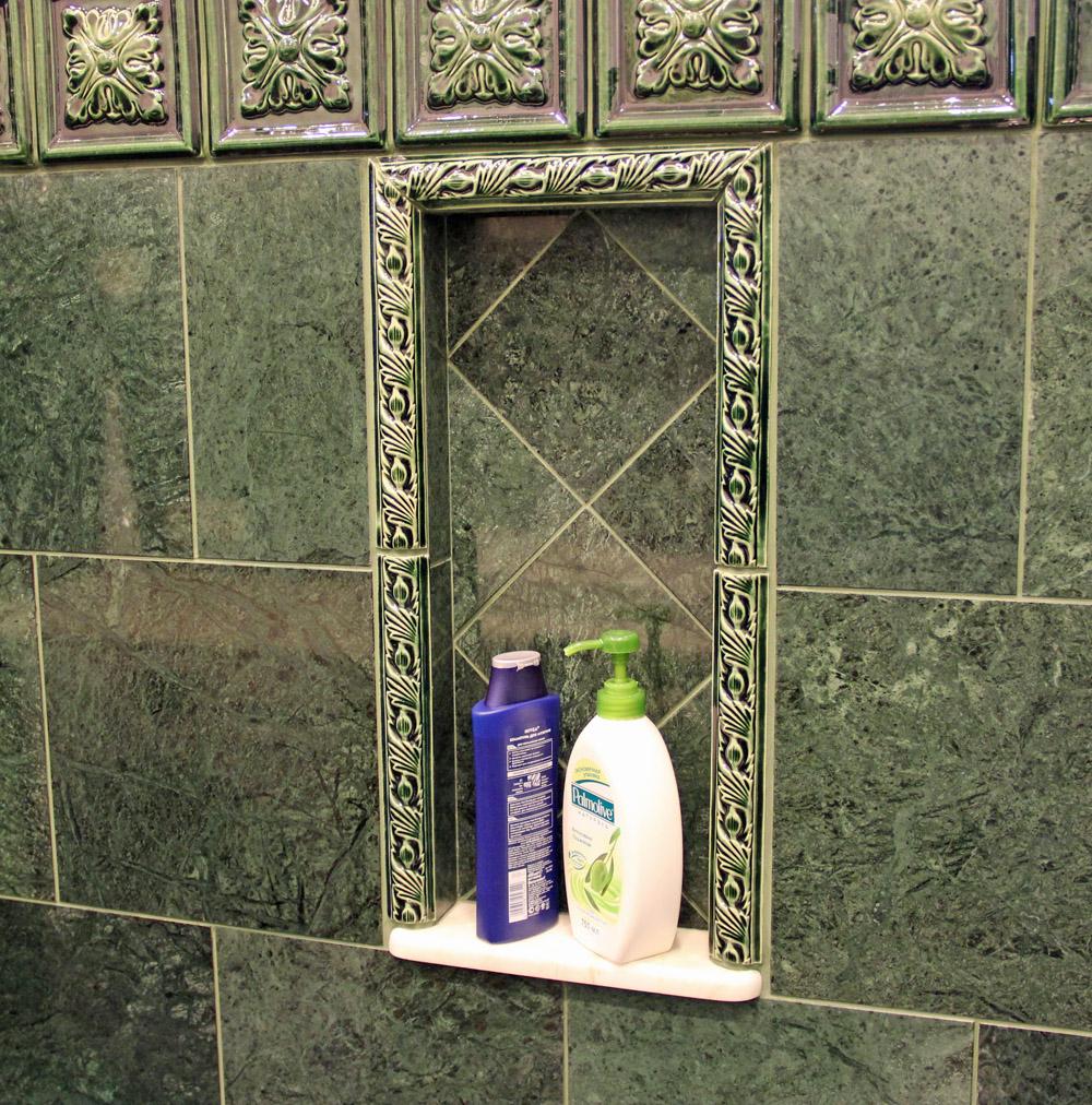 Декоративные элементы из рельефной плитки
