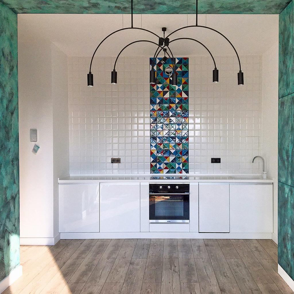 Керамическая плитка-мозаика для кухни
